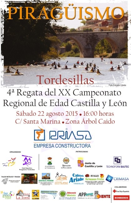 Cartel Tordesillas Piragüismo 2015